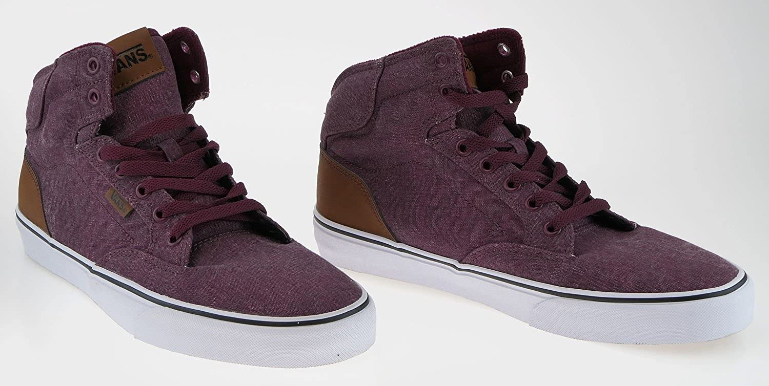 443783 Vans Winston Hi Washed Canvas Port Sample