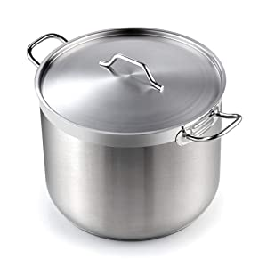 Cooks Standard 02616 Professional Grade Lid 30 Quart Stainless Steel Stockpot Silver