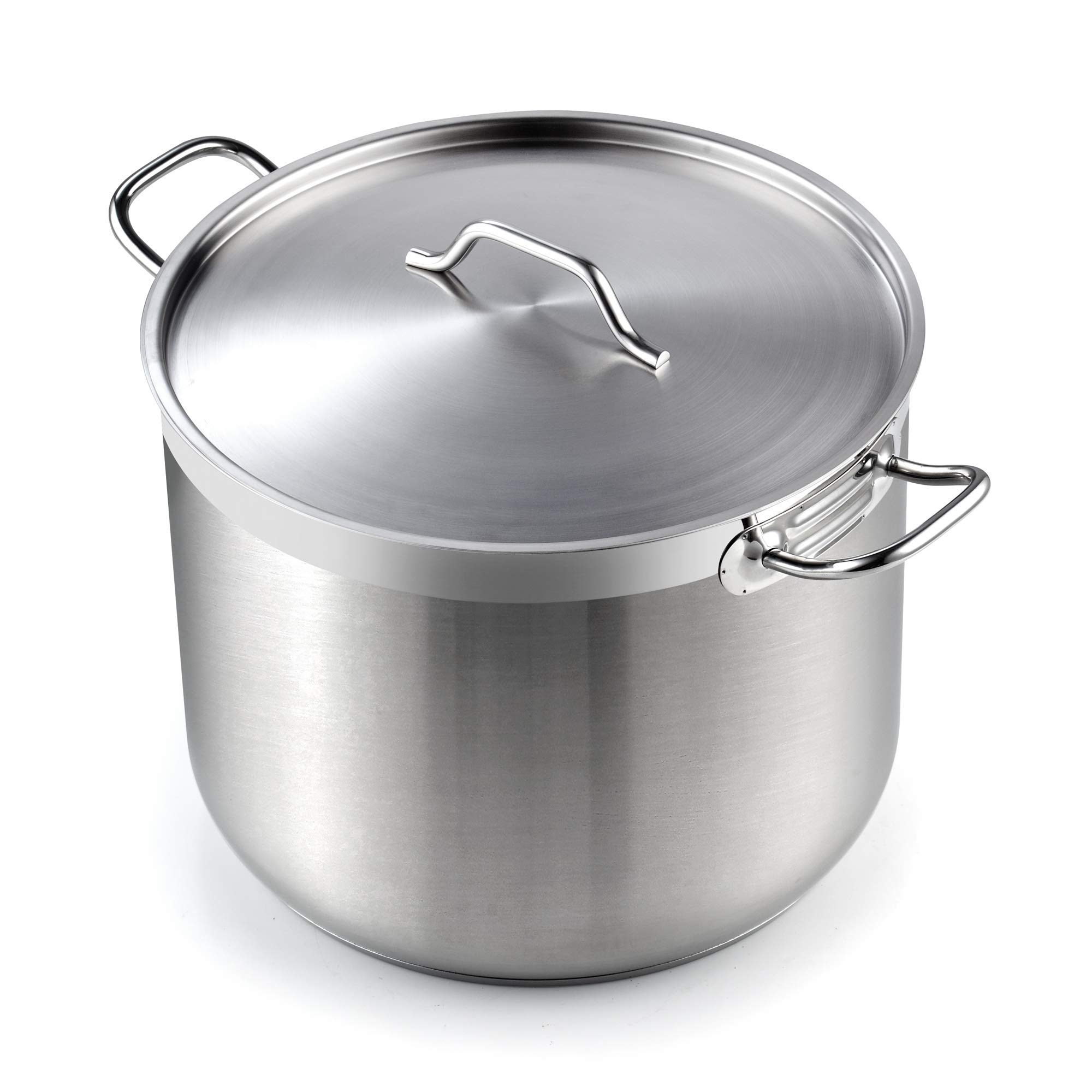 Cooks Standard 02616 Professional Grade Lid 30 Quart Stainless Steel Stockpot, Silver