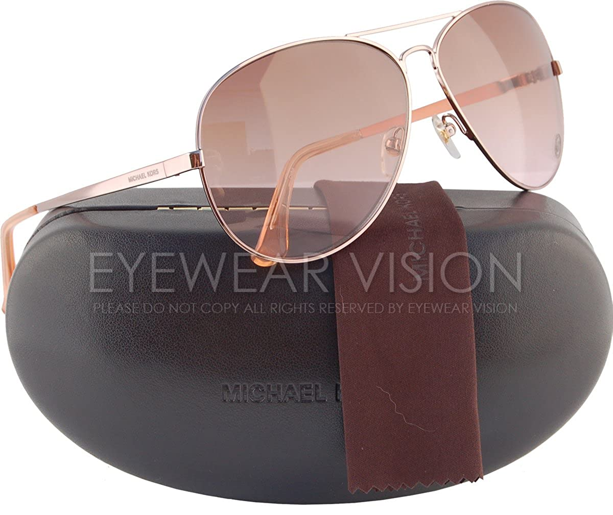 c5da4f05abbce Michael Kors M2058S Lola Aviator Sunglasses Rose Gold w Brown Gradient  (780) MK 2058 720 63mm  Amazon.ca  Clothing   Accessories