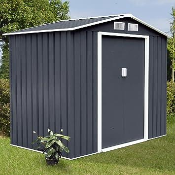 9 x 6 al aire libre herramienta de cobertizo para jardín casa puerta corredera