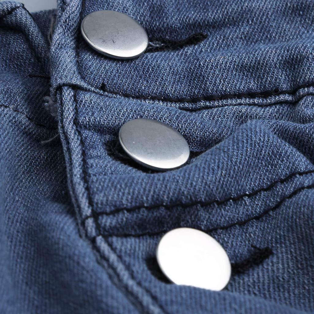 Logobeing Pantalones de Vaqueros Hombre Ropa Peto Corte ...