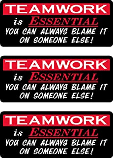 Funny Teamwork You Can Blame Someone Else Hard Hat Sticker Toolbox Decal Wall