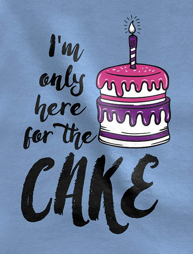 Im Only Here for The Cake Birthday 3//4 Sleeve Baseball Jersey Toddler Shirt