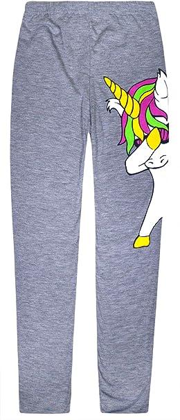 JollyRascals Girls Unicorn Leggings Kids New Dabbing Unicorn Dance Party Pants Neon Colors Ages 4 5 6 7 8 9 10 11 12 13 Years