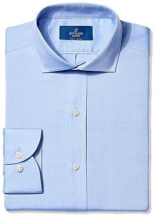 8baae2da BUTTONED DOWN Men's Slim Fit Cutaway-Collar Non-Iron Dress Shirt (No Pocket