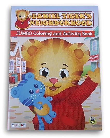 Amazon.com: Daniel Tiger\'s Neighborhood Jumbo Coloring & Activity ...