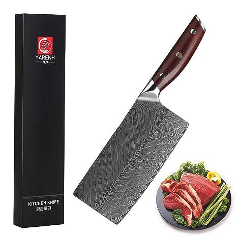 Amazon.com: Yarenh - Cuchillo de chef profesional de 8 ...