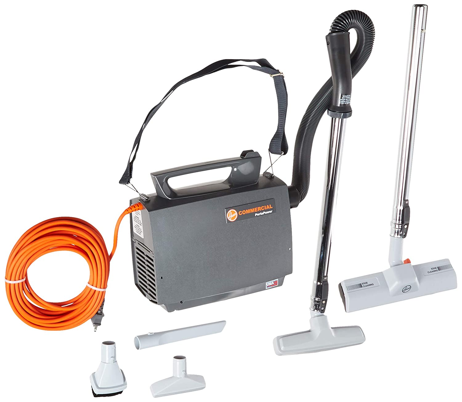 Hoover CH30000 PortaPower Lightweight Commercial Canister Vacuum, Orange
