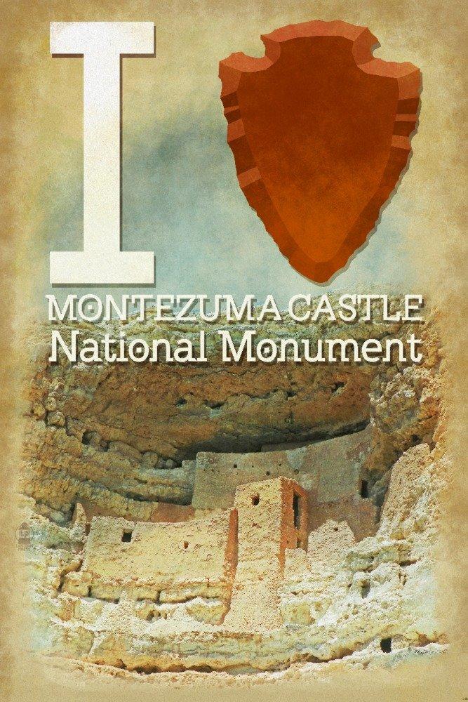 I Heart Montezuma城National Monument , Arizona 24 x 36 Giclee Print LANT-69640-24x36 B01B5O8JNY  24 x 36 Giclee Print