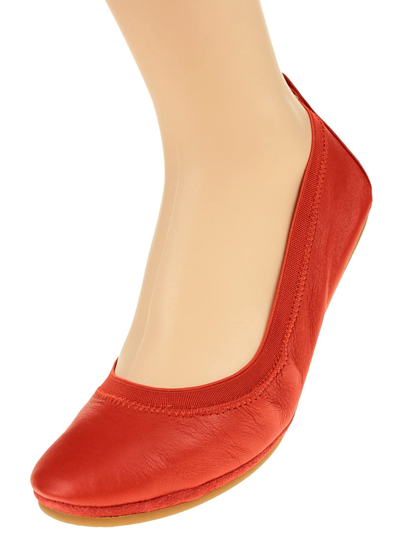 Yosi Samra Women's Samara Ballet Flat B071G1QGXQ 9 B(M) US|Engine Red