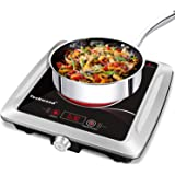Techwood Hot Plate Electric Stove Single Burner Countertop Infrared Ceramic Cooktop, 1500W Timer and Touch Control…