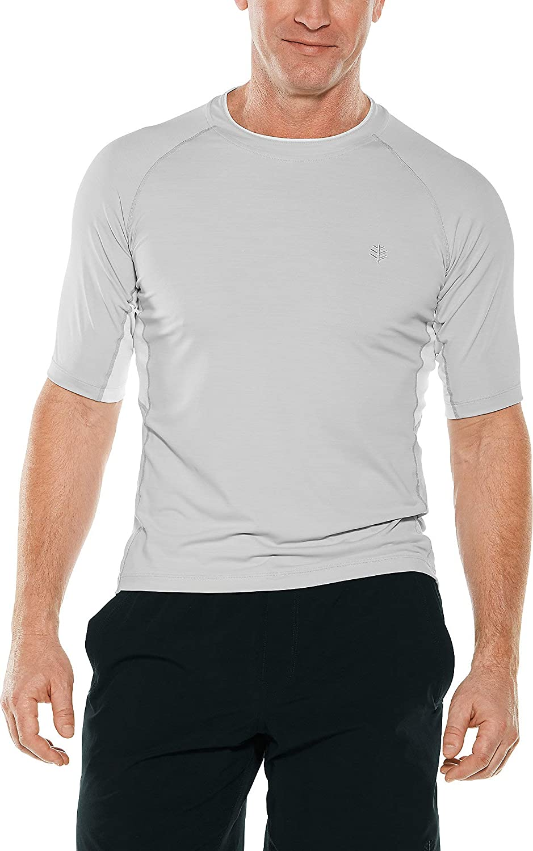 Coolibar UPF 50+ Men's Ultimate Short Sleeve Rash Guard - Sun Protective