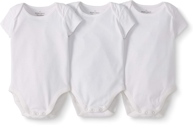 Moon and Back Unisex Baby 3 Pack Short Sleeve Bodysuit