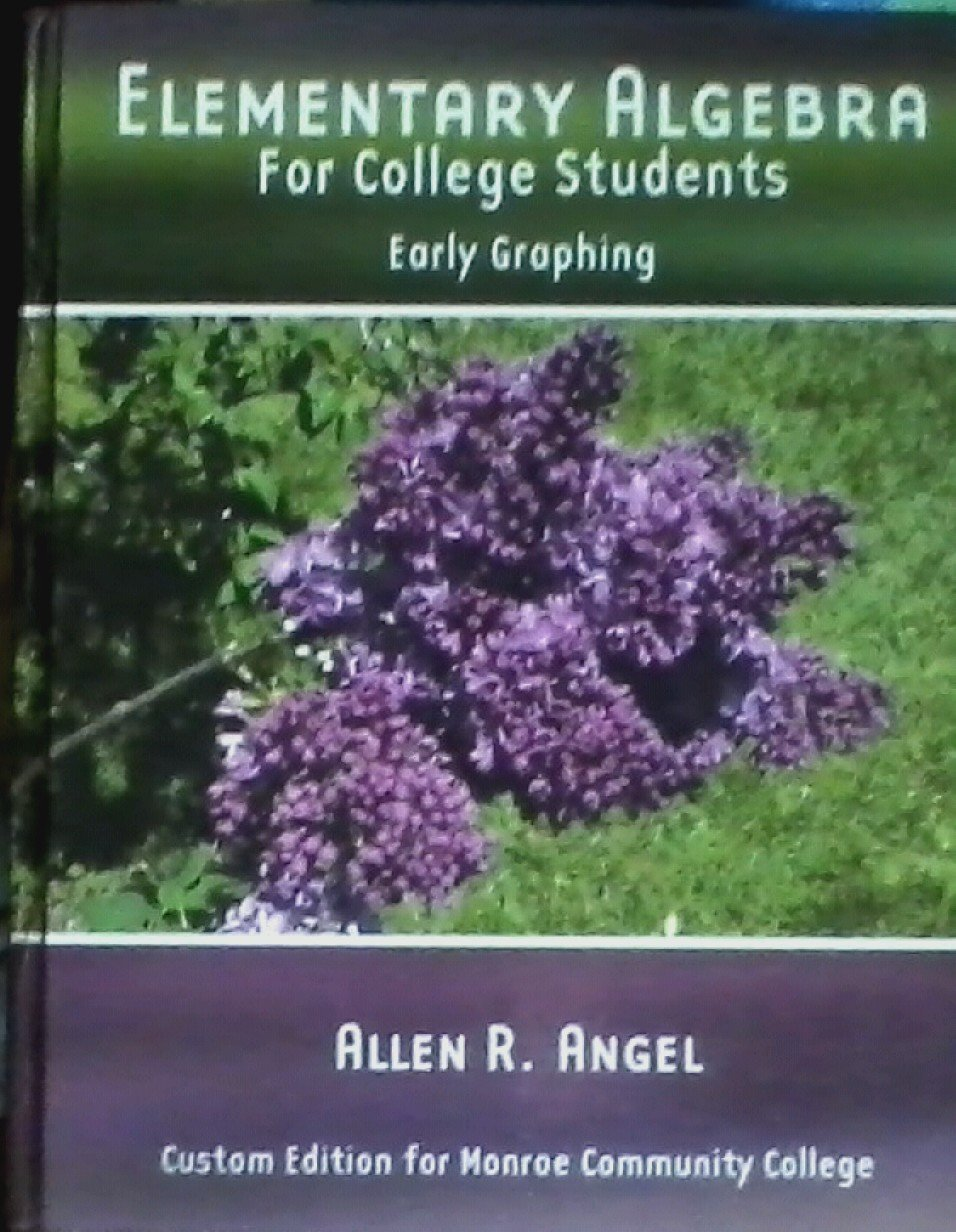 Download Elementary Algebra for College Students : Early Graphing ebook