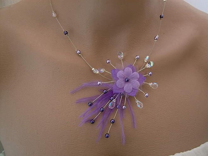 unique design new collection new design Collier Original Violet/Mauve/Parme/Lilas/Cristal p robe de ...