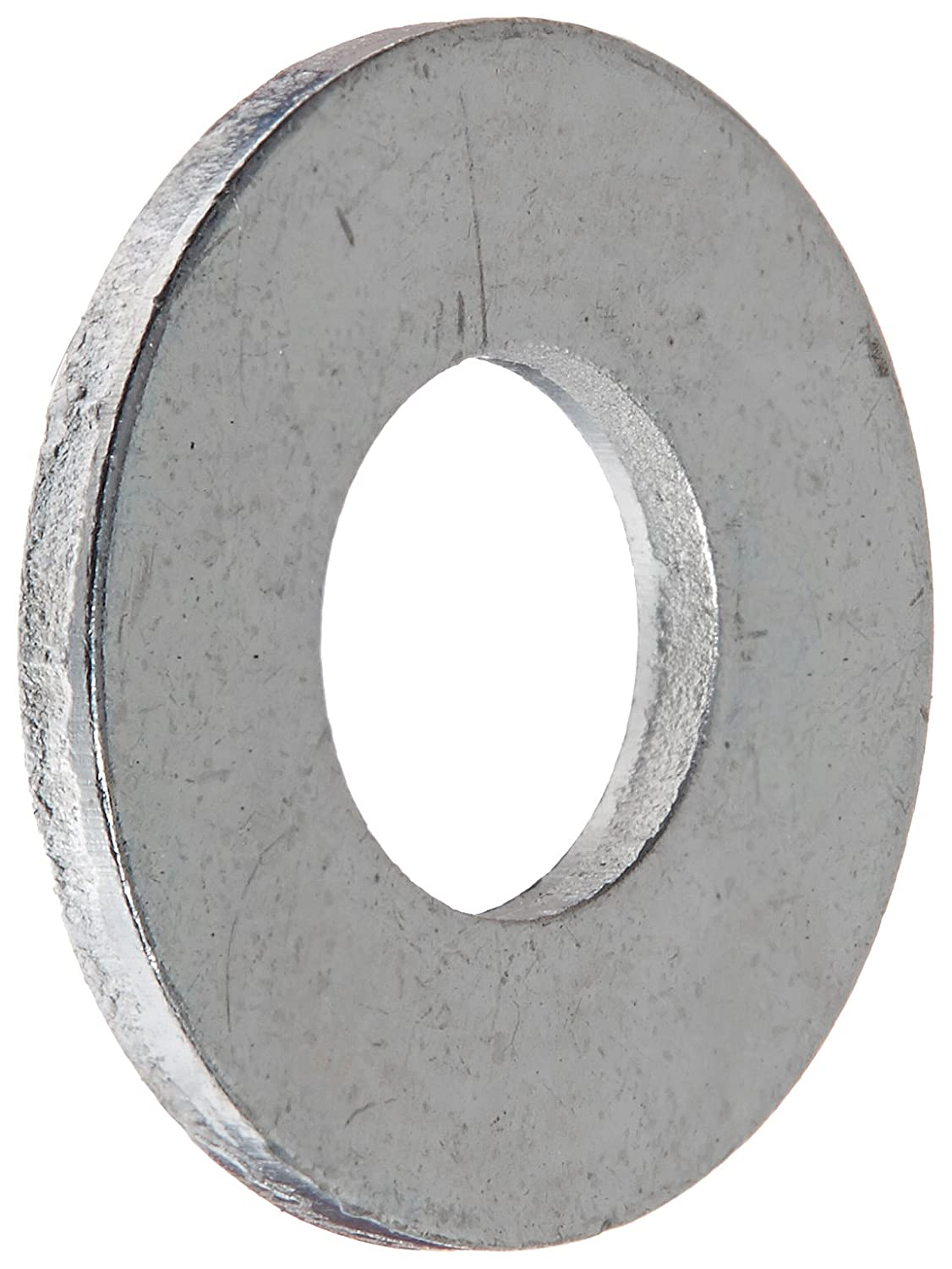 Zinc Plated Finish 0.049 Thick ASME B18.22.1 Pack of 100 No 10 Screw Size 9//16 OD Steel Flat Washer 1//4 ID