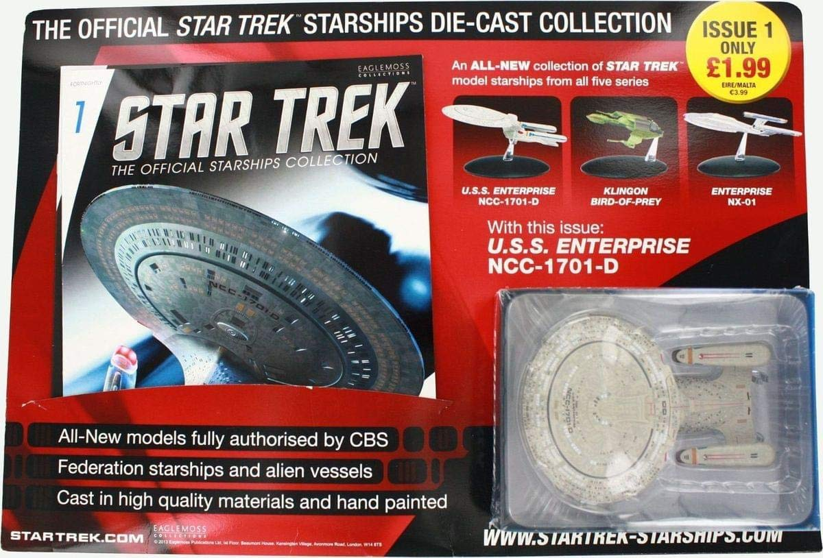 Star Trek Issue #1 Diecast Starship Enterprise NCC-1701-D /& Magazine Eaglemoss Publications