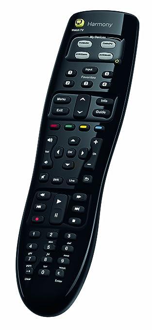 09f3387d856 Logitech Harmony 350 Remote Control - Black: Amazon.co.uk: Electronics