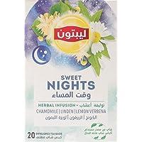 Lipton Sweet Nights Herbal Infusion, 20 Bags - Pack of 1