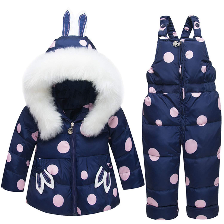 Aancy Winter Kids Down Jacket Set Baby Warm Thick Duck Down Coat+Romper 2PCS Outerwear Boys Girls Skiing Suit Snowsuit