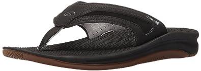 6d71bd12bbd5a Reef Men's Flex Sandal, Black/Silver, ...