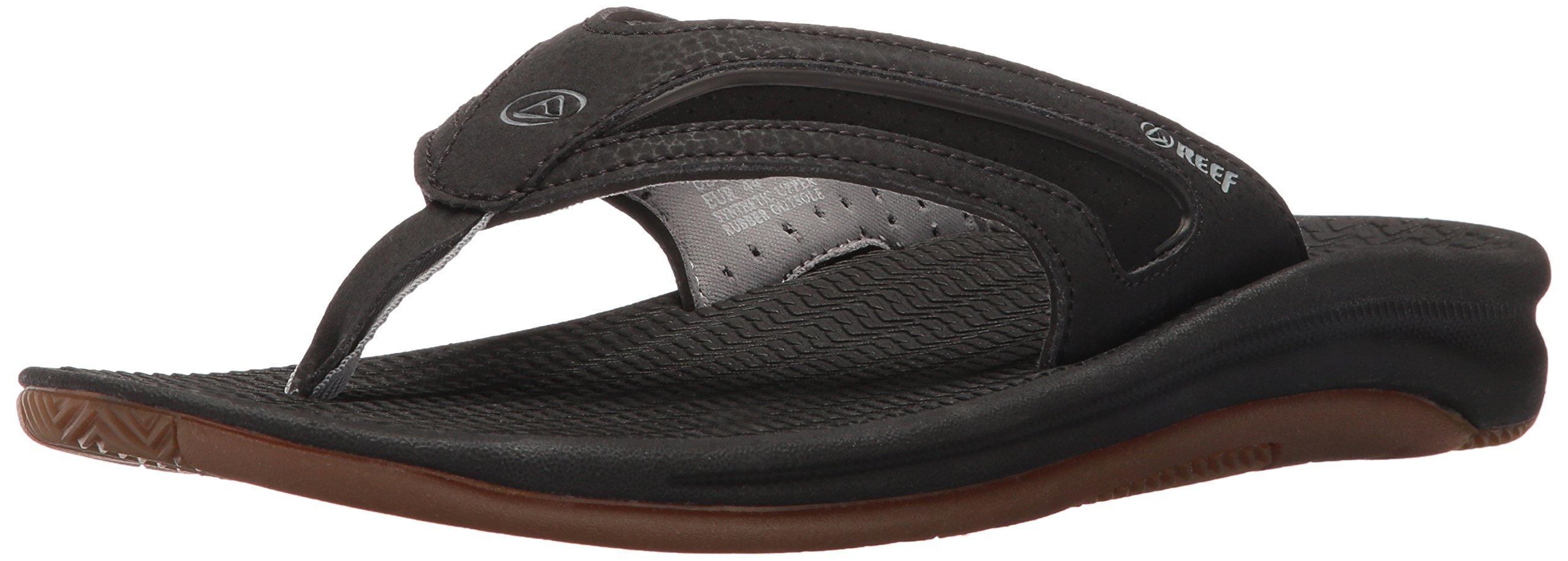 Reef Men's Flex Sandal, Black/Silver, 13 M US