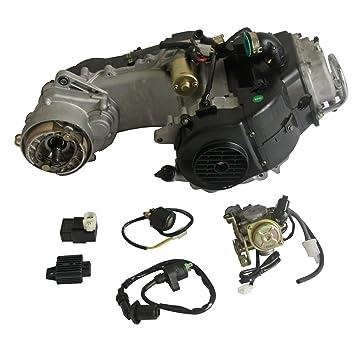 Mega Brands 50 cc 4 tiempos GY6 Scooter Motor Auto w/CVT Transmisión para 25,4 cm rueda 50 cc Scooter/ATV/Dirt Bike Motor Motor eléctrico Start: Amazon.es: ...