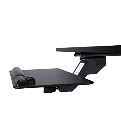 7a78d78cd46 Amazon.com : Furmix Adjustable Keyboard Tray Under Desk, Sturdy Platform  with Gel Wrist Rest and Mouse Pad, Simply Adjust Height and Tilt for  Comfort ...