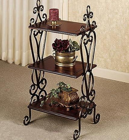 Wrought iron racks/Floor shelves/Bathroom/bathroom floor/Storage ...