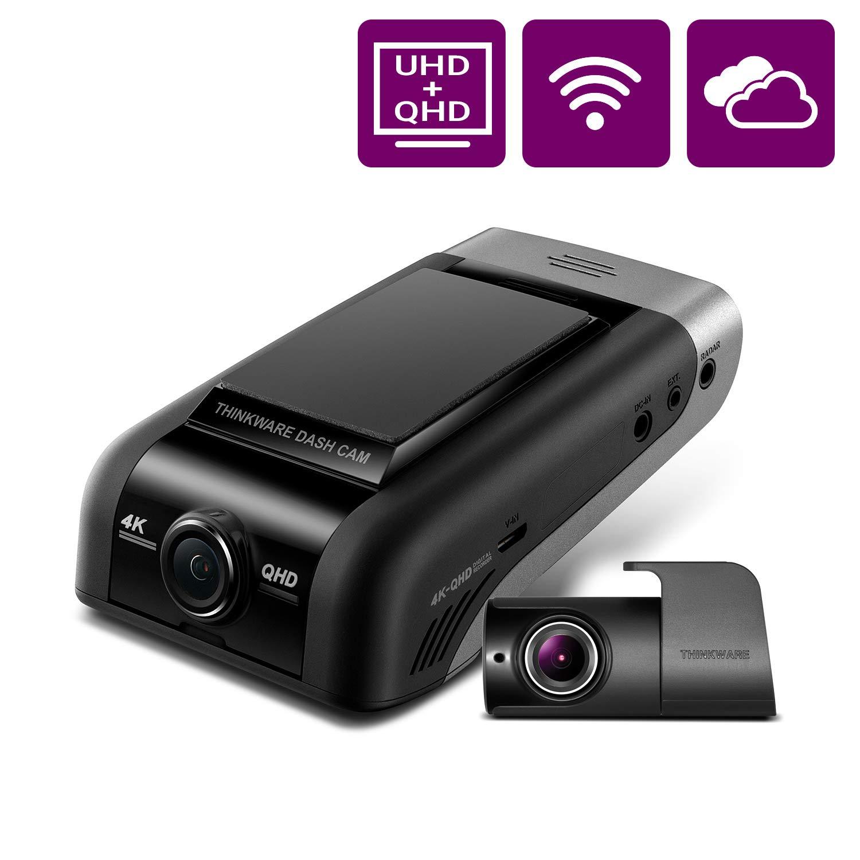 THINKWARE U1000 Dual Dash Cam 4K UHD 3840X2160 Front Cam, 2K 2560X1440 Rear Cam, 150° Wide Angle Dashboard Camera Recorder with G-Sensor, w/Sony Sensor, Parking Mode, WiFi, GPS, Cloud Enabled by Thinkware