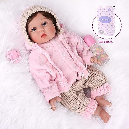 """Lifelike 22/"""" Reborn Doll Silicone Newborn Baby Doll Clothes Set Wedding Gift"""