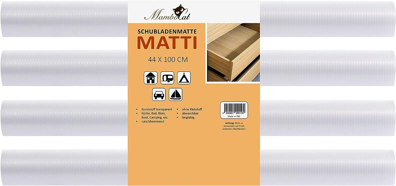 MamboCat Schubladenmatte Matze 2er Set I 150 x 50cm I idealer Schubladenschutz I transparente Antirutschmatte I zuschneidbare Einlegefolie f/ür Schr/änke I Plastik Unterlage f/ür K/üche Bad