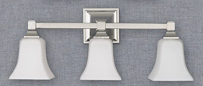 Feiss Vs12403 Pn 3 Bulb Vanity Light Fixture Polished Nickel Finish