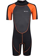 Mountain Warehouse Junior Shorty Wetsuit - Neoprene Kids Wetsuit, Easy Glide Zip Summer Wetsuit, Flat Seams Childrens Wetsuit, Adjustable Neck Swimming Suit - for Diving