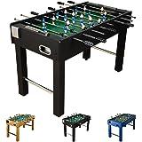 """Futbolín de mesa """"Glasgow"""" con juego de accesorios, 2 portavasos, pies regulables en altura, campos de juego perfectamente levantados, patada de mesa, kicker, futbolín"""