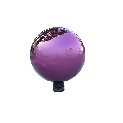 "Alpine Corporation Electric Purple Gazing Globe - Glass Sphere with Neck - Outdoor Yard Art Decor - 10"" x 10"" x 12"" : Garden & Outdoor"