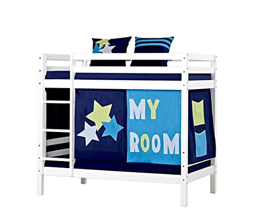Etagenbett 70 160 : Hoppekids my room etagenbett kiefer massiv blau 70 x 160 cm