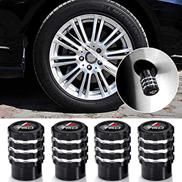 N//A 4Pcs Metal Car Wheel Tire Valve Stem Caps for Toyota TRD Fj Cruiser Tundra Supercharger Tacoma 4runner Camry Highlander Avalon with Logo Styling Decoration