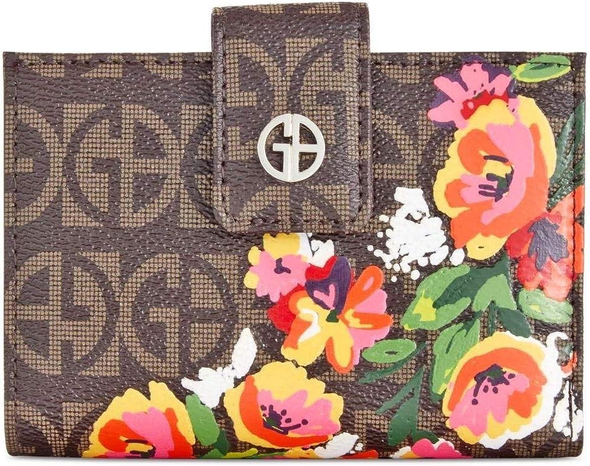 Giani Bernini Floral Print Signature Frame Indexer Wallet