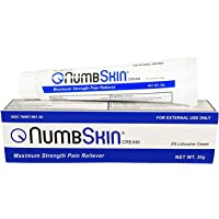 Numbskin Lidocaine Pain Relief Cream, 30g Tube – Topical, Fast Acting, Long Lasting use for Microneedling/Piercing…