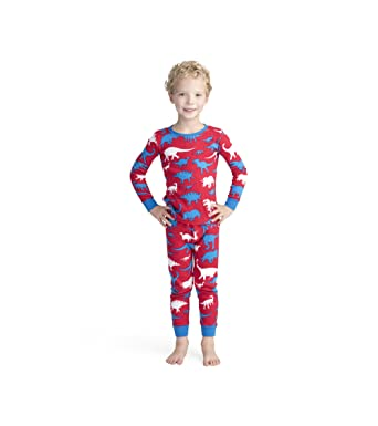 f25ed1fcb9 Amazon.com  Hatley Boys  Organic Cotton Long Sleeve Printed Pajama ...
