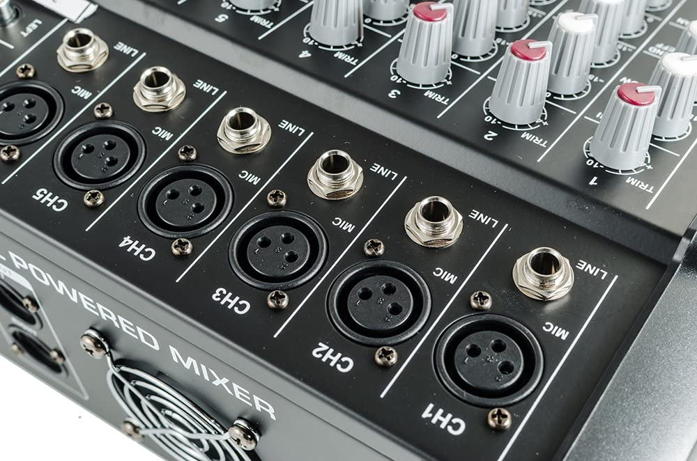 16 Channel Professional Powered Mixer Power Mixing Amplifier Amp 16DSP with USB Slot USA iMeshbean 4//6 6 Channel 8//10