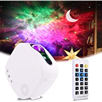 Sky LED Projector Night Light,3-in-1 LED Moon Nebula Cloud Rotating Star Light Galaxy Projector with RF Remote…