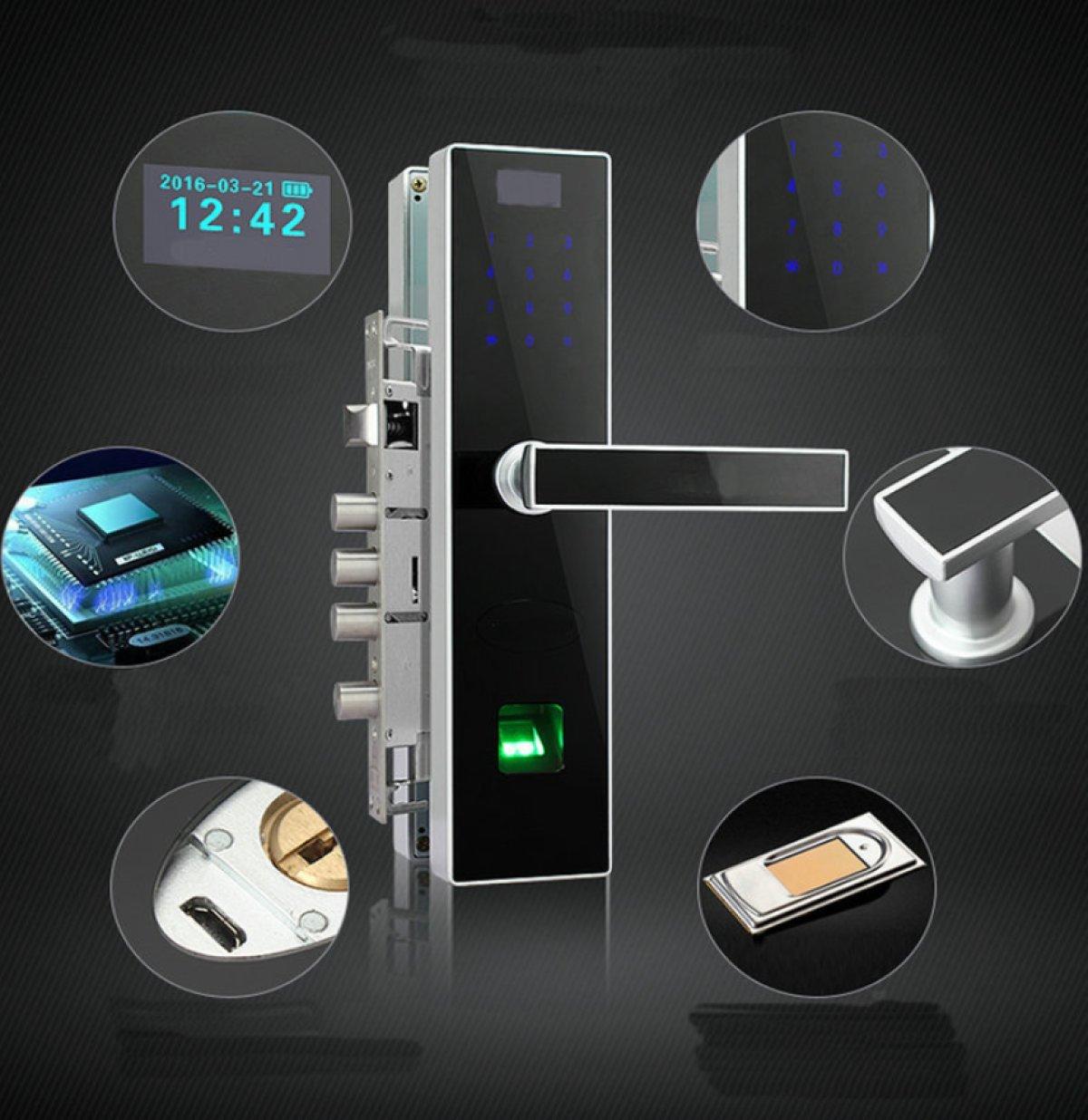 RAN Cerradura De Puerta De Seguridad De Huella Digital De Aleación ...