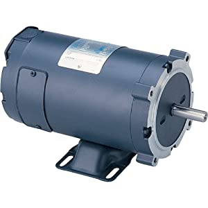 Leeson Low Voltage DC Electric Motor - 1/2 HP, 24 Volts, 1,800 RPM, Model Number 4D17NK10