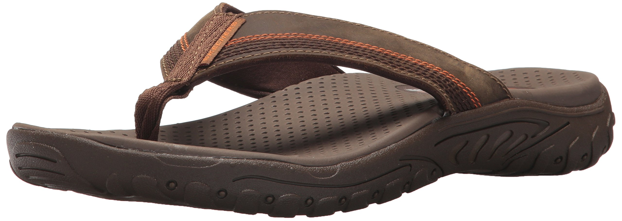 Skechers Men's Relaxed Fit-Reggae-Cobano Flip-Flop,brown,11 M US