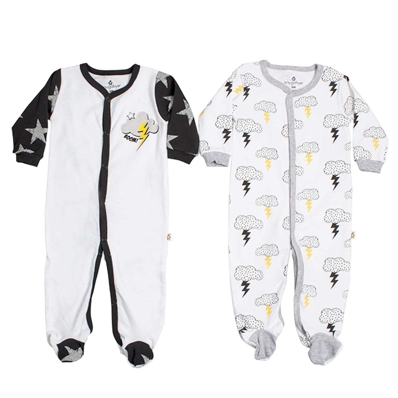 お歳暮 Snugabye新生児新生児用品一式2 Pack Footie 3 Boys Footed Sleeperパジャマブラックホワイト B06ZZNPVN1 3 ブラック&ホワイト 3 B06ZZNPVN1 Months 3 Months ブラック&ホワイト, 東村:93713513 --- svecha37.ru