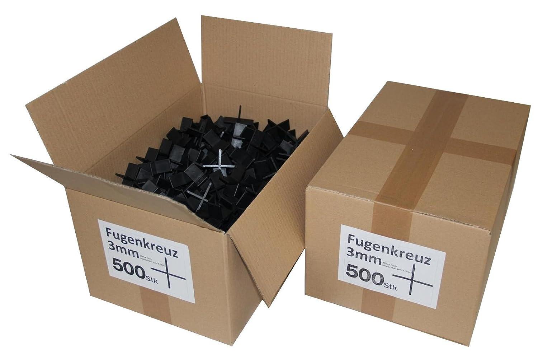 Fugenkreuze 3mm, Bauhö he 20mm, 500 Stü ck im Karton B+B Plattenbeläge GmbH