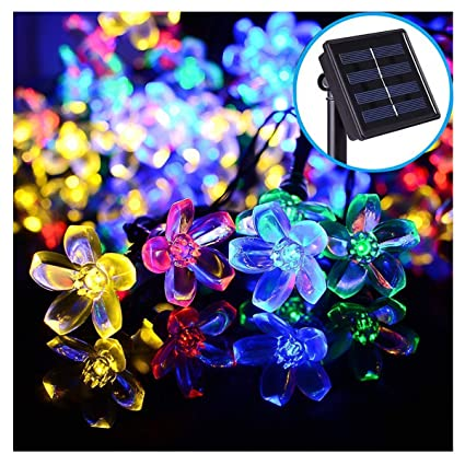 When Were The First Electric Christmas Lights Used.Color Solar String Lights 50led Outdoor Peach Blossom Flower Christmas Lights Waterproof 21ft Twinkle Fairy Lights Solar Powered Garden Decor String